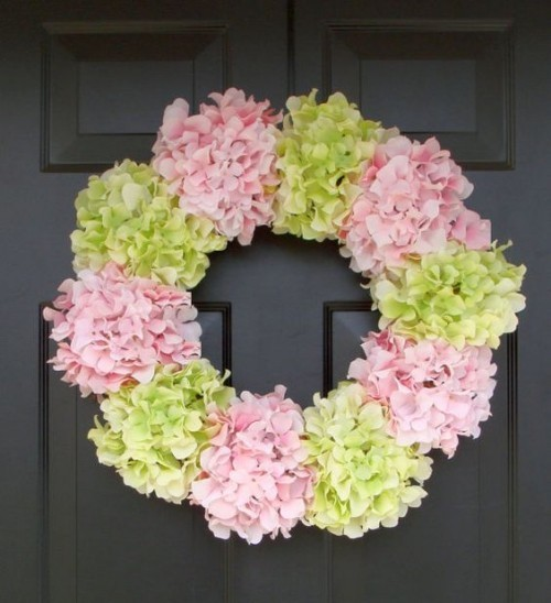Türkränze Hortensienblüten