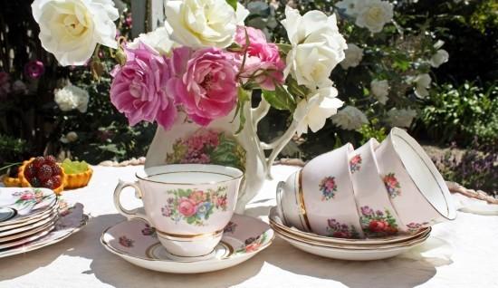 Tisch deko ideen Vintage Tee Party Deko