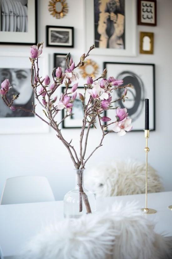 Vase herrliche Deko-Magnolie