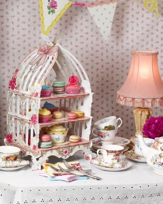 Vintage Tee Party Deko Tee Cupcakes