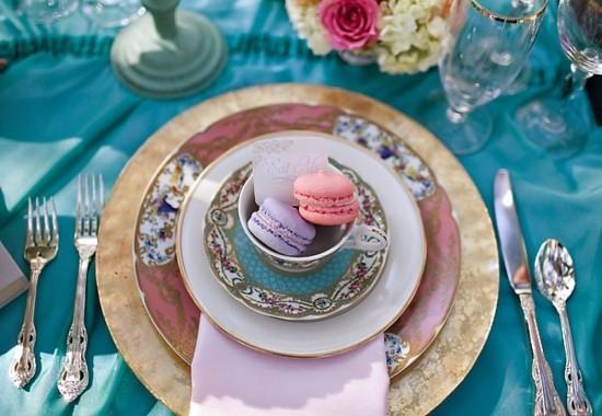 Vintage Tee Party Deko klassisches Teegeschirr Cupcakes