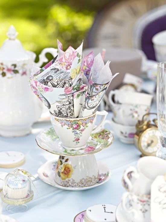Vintage Tee Party Deko stilvoll ausgefallen