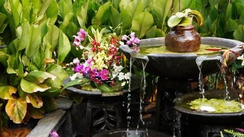 Wasserbrunnen Gartenideen Garten nach Feng Shui gestalten Harmonie ausstrahlen