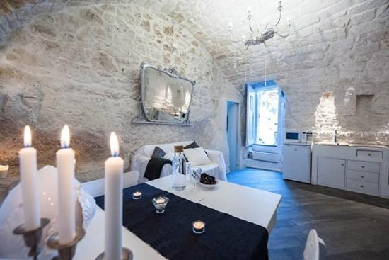 Wunderschöne Atmosphäre Behaglichkeit Höhle White Dream Italien