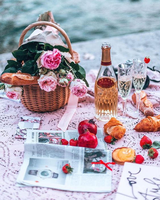 alles in rosa picknick ideen