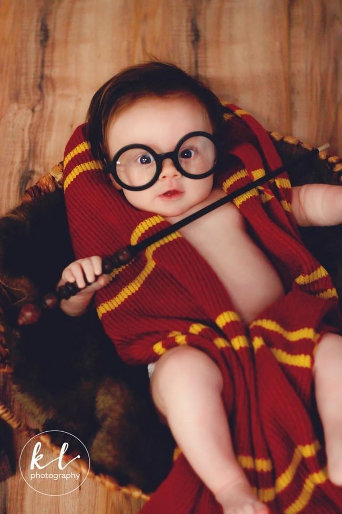 baby fotos ideen fotoshooting ideen kreativ lustige babybilder harry potter