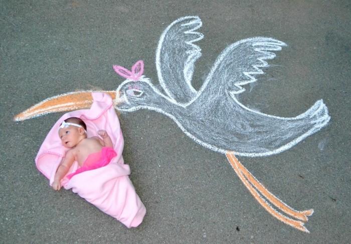 baby fotos ideen fotoshooting ideen kreativ lustige babybilder ideen kreativ storch