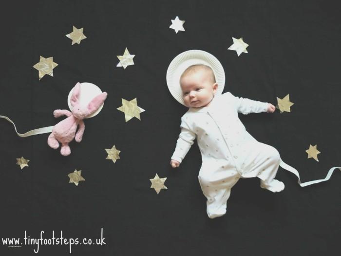 baby fotos ideen fotoshooting ideen kreativ lustige babybilder raumfahrt
