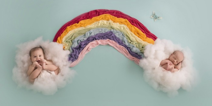 baby fotos ideen fotoshooting ideen kreativ lustige babybilder regenbogen