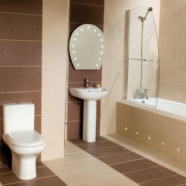 Badezimmer Braun Beige Kombination Badezimmerfliesen Kombinieren