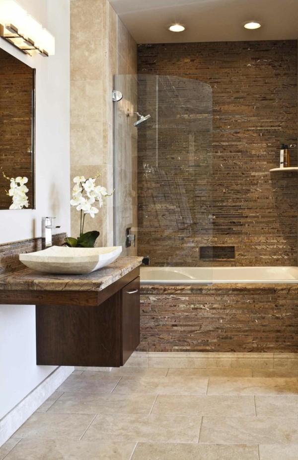 Badezimmer Braun Beige Kombination Badideen