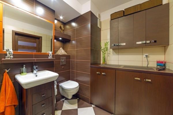 badezimmer braun farbkombinationen stilvolles baddesign