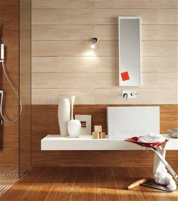 badezimmer braun hellbraun beige kombinieren gemütlich