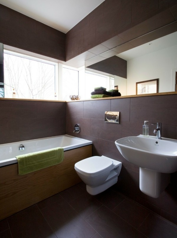 badezimmer braun kleines badezimmer dekoideen
