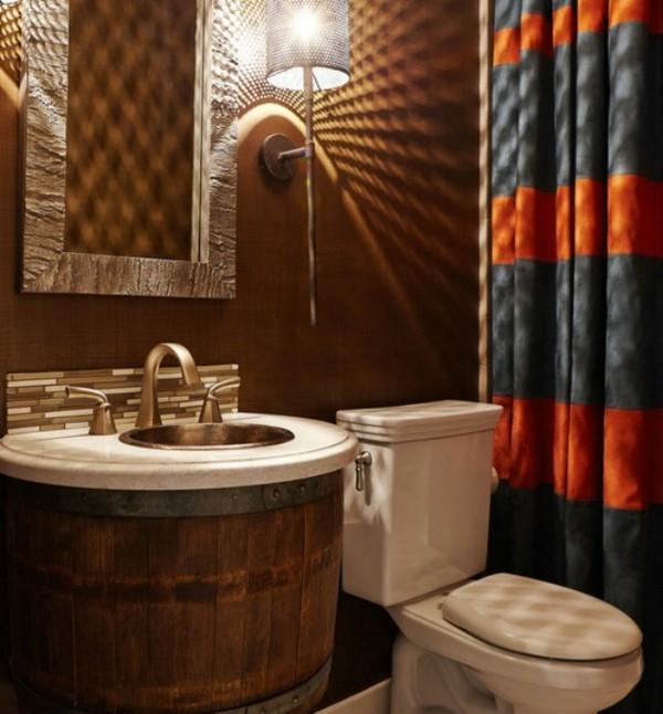badezimmer braun kreative badideen ausgefallenes waschbecken