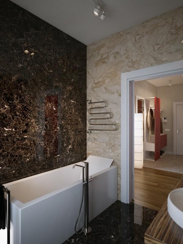 badezimmer braun marmor verschiedene nuancen kombinieren