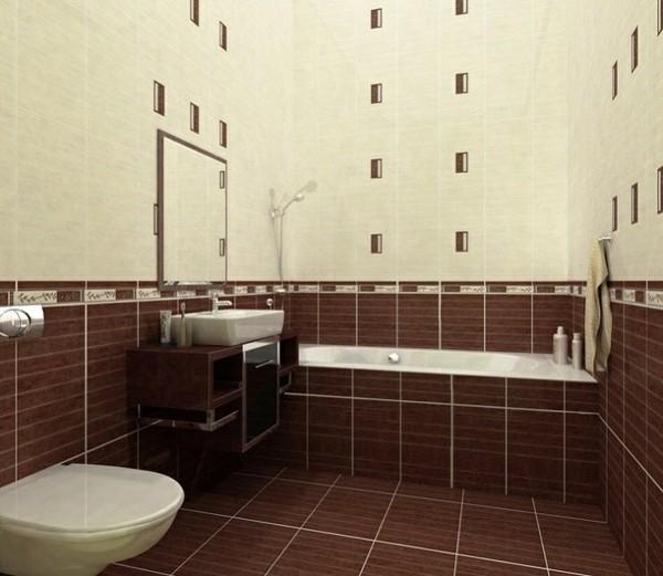 badezimmer braun verspieltes baddesign farbkontrast gemütlich