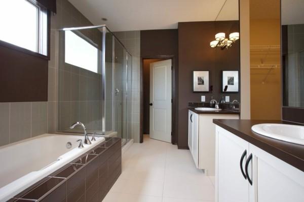 Badezimmer Braun Weiß Funktionales Badezimmer Gestalten