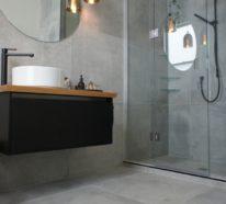 Badezimmer Hellgrau