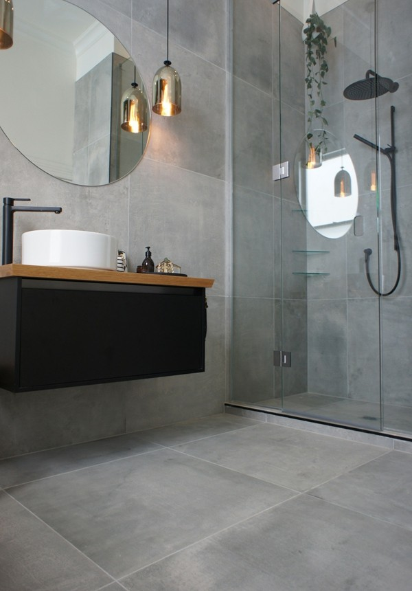 Best Badezimmer Ideen Grau Pictures - Moderne Vintage ...