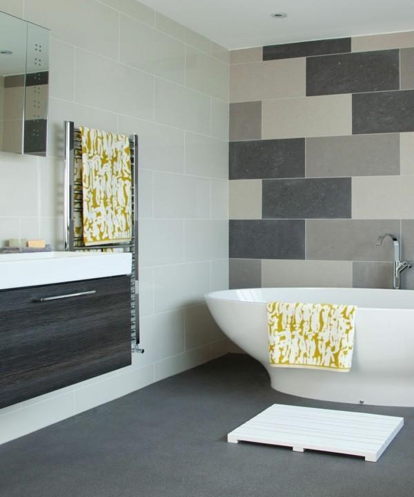 badezimmer grau grauer boden schöne wandgestaltung