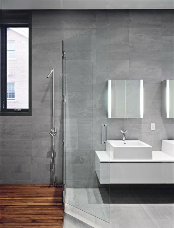 badezimmer grau schöner boden holzoptik glastüren