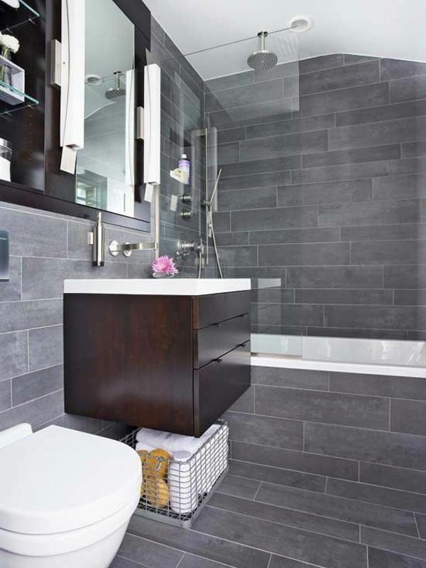 badezimmer grau schönes wanddesig bad dachschräge