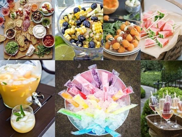 boho hochzeit büffet ideen fingerfood desserts