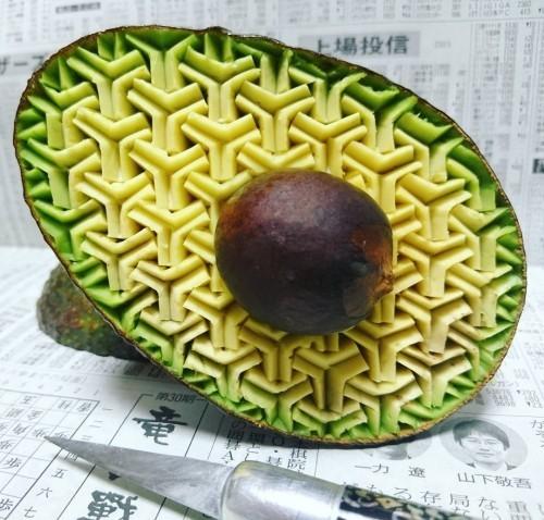 dekoideen avocado geometrische strutkur
