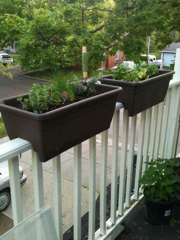 diy pflanzer balkon geländer
