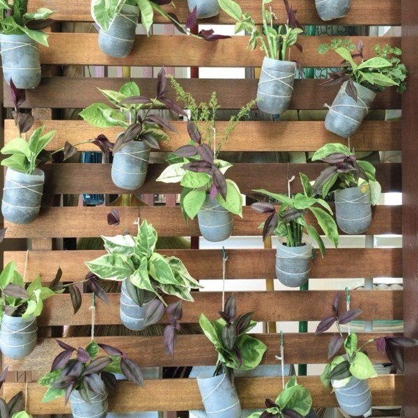 diy pflanzer schöne trennwand