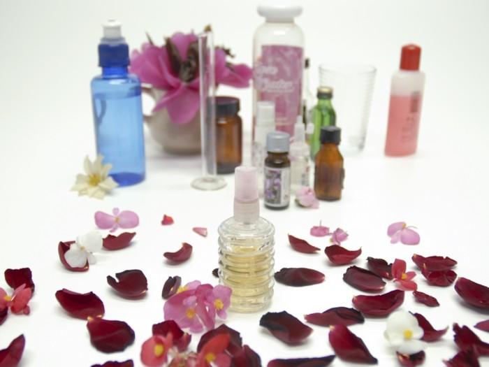 duftkerzen selber machen aetherische oele rosenblaetter