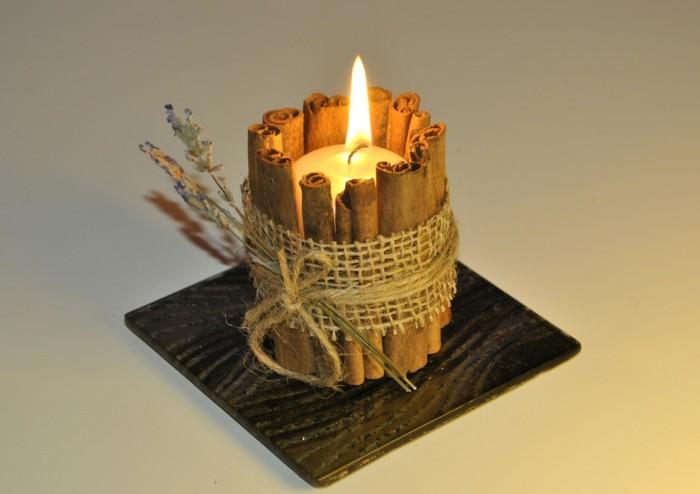 duftkerzen selber machen aetherische oele zimt lavendel