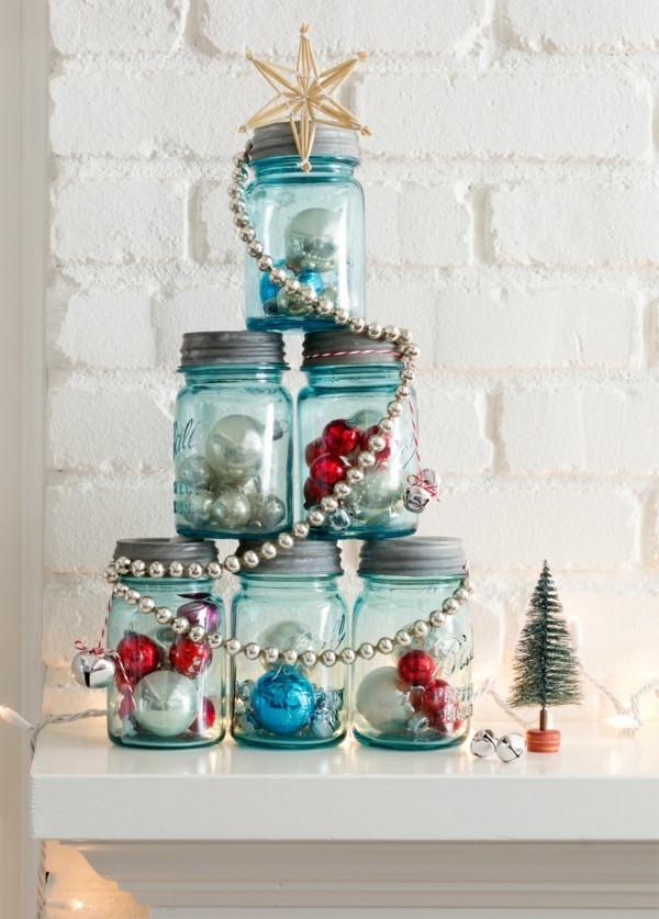 einmachgläser deko ausgefallene deko weihnachten