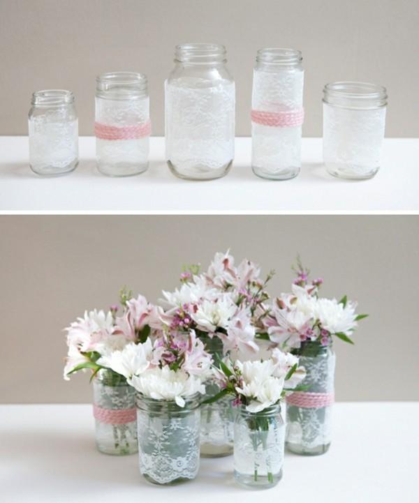 einmachgläser deko einmachgläser vasen dekoideen hochzeit