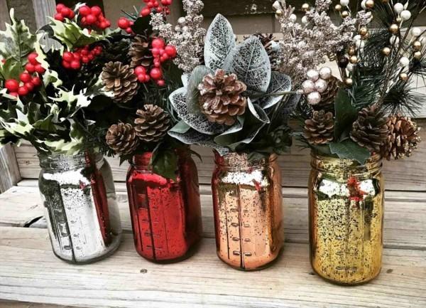 einmachgläser deko stilvolle weihnachtsdeko diy dekoideen