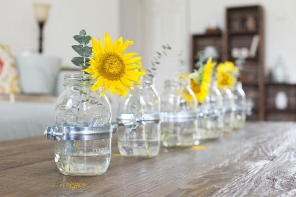 einmachgläser deko vasen für die tischdeko