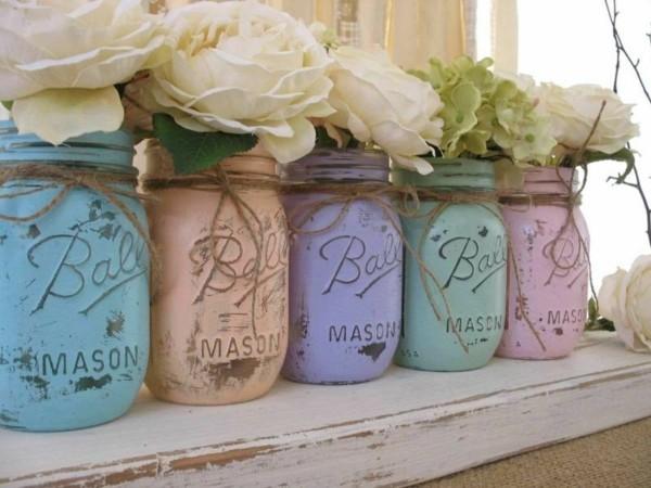 einmachgläser deko vintage vasen selber machen
