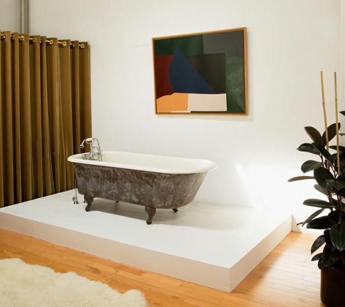 elegante badewanne auf podest bad ideen