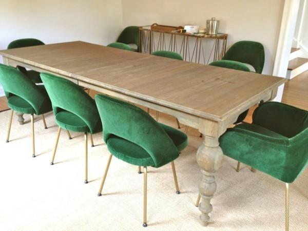 esszimmerstühle mit armlehne moderne stühle grün beiger teppich