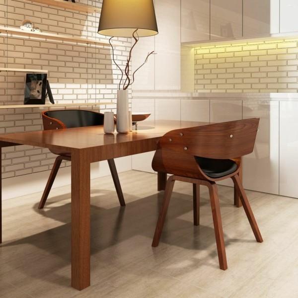 esszimmerstühle mit armlehne modernes design schöne holzoptik