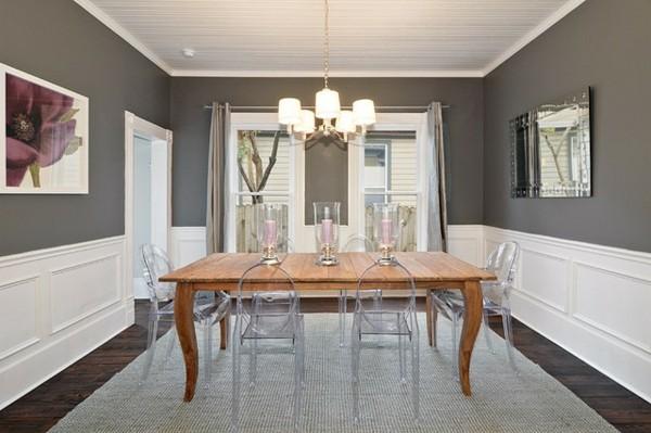 esszimmerstühle mit armlehne schöne essecke gestalten teppich