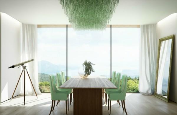 esszimmerstühle mit armlehne schicke stühle grün