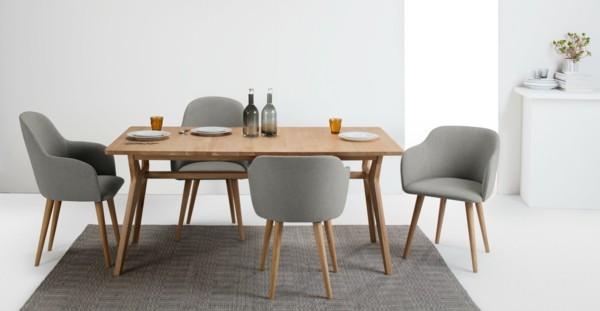 esszimmerstühle mit armlehne skandinavisches design grauer teppich