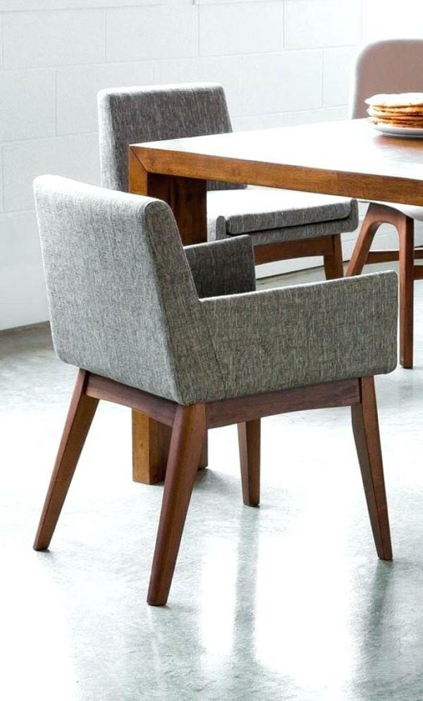 esszimmerstühle mit armlehne stilvolle graue stühle