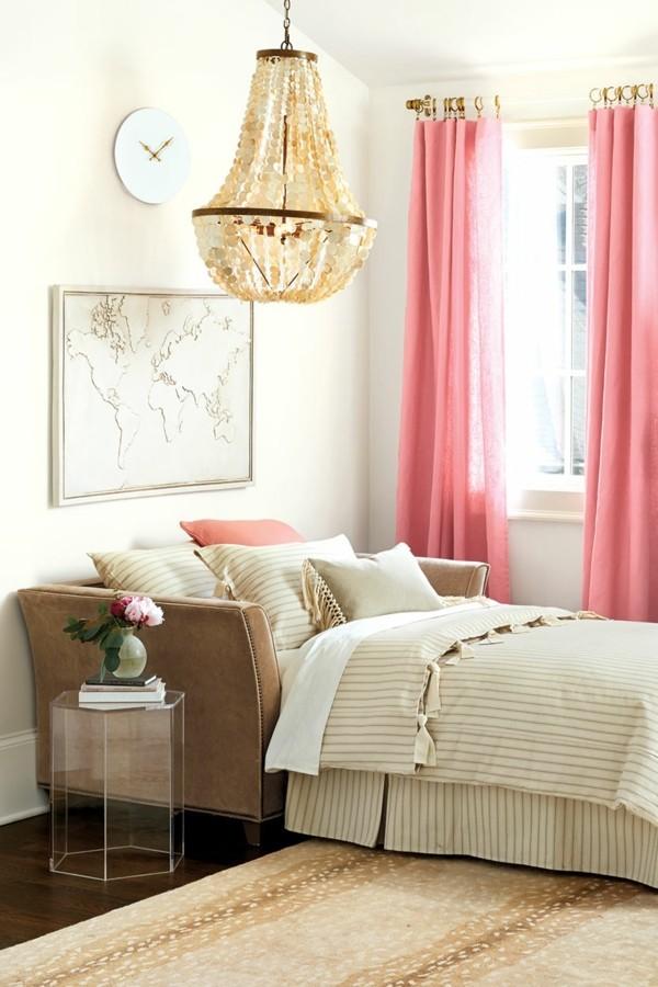 fensterverdunkelung schlafzimmer frische gardinen helle inneneinrichtung