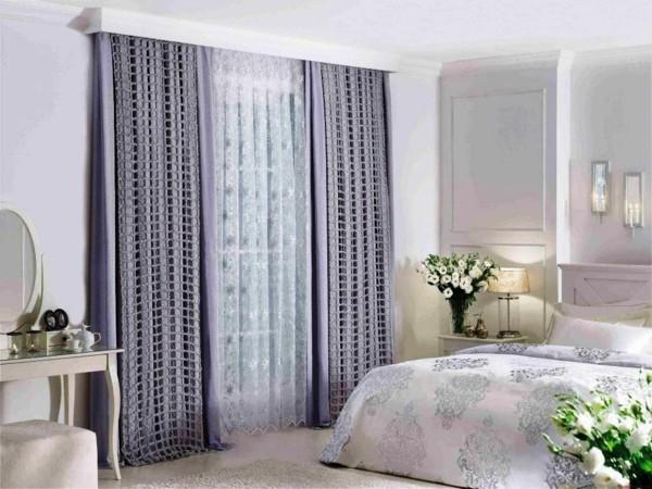 fensterverdunkelung schlafzimmer gardinen kombinieren ideen