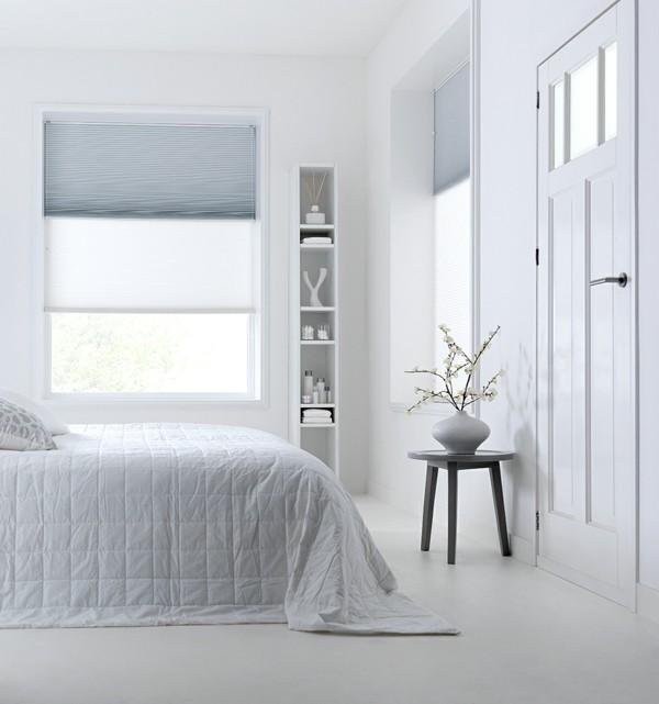 fensterverdunkelung schlafzimmer plissees sichtschutz