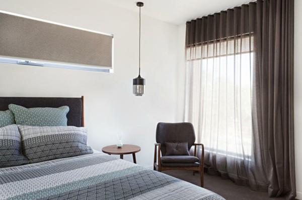 fensterverdunkelung schlafzimmer rollo gardine sichtschutz sonnenschutz