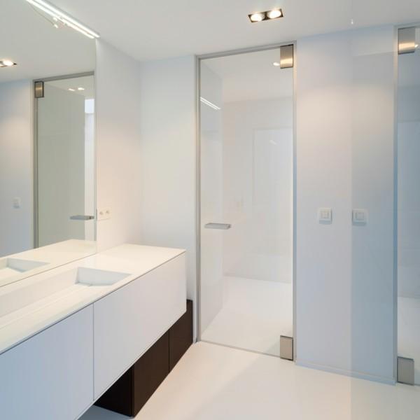 glastüren badezimmer passende glasart auswählen